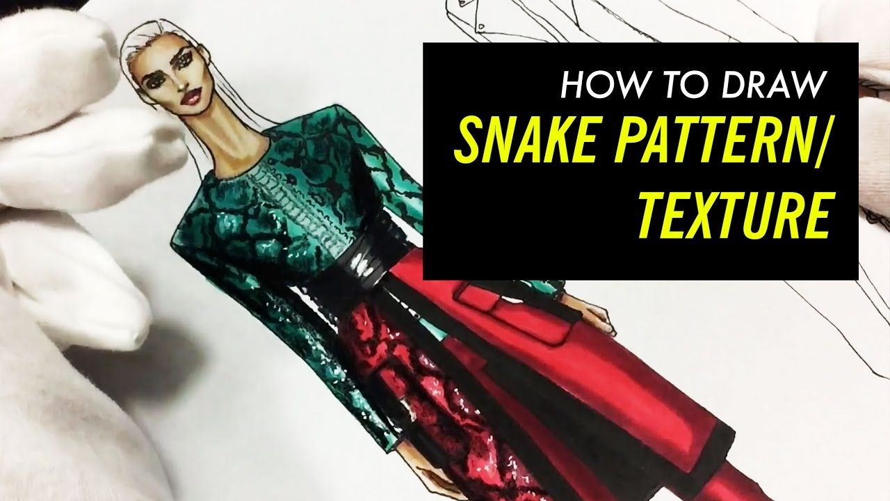 Drawing Snake Pattern Texture Fashion Drawing Youtube