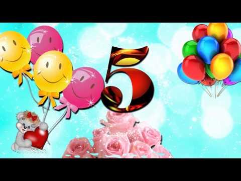 БЕСПЛАТНО Футаж на день рождения 5 лет!!!