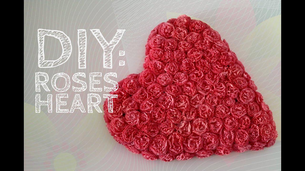 Большое сердце из салфеток 54