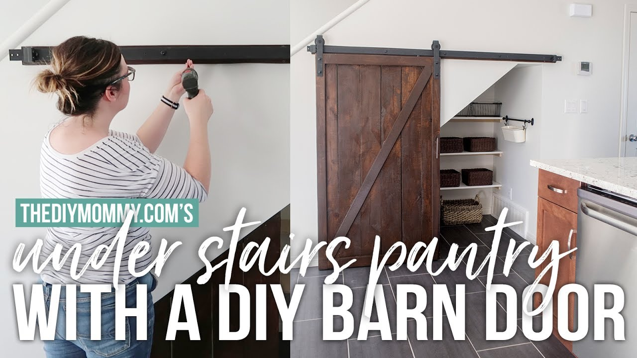 Build An Under Stairs Pantry With A Sliding Barn Door The Diy