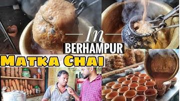 Tasting Tandoori Matka Chai In Berhampur | Odisha Food Vlog | Indian Street Food | Berhampur Famous