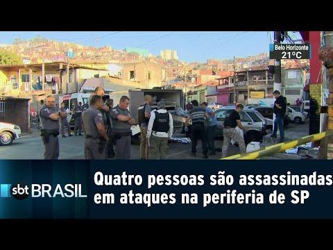 Quatro pessoas são assassinadas em ataques na periferia de São Paulo | SBT Brasil (20/07/18)