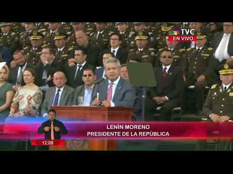 Presidente Moreno encabeza ceremonia de graduación de Policías de Línea