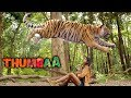 Thumbaa Movie Scenes | Keerthi Pandian and vilagers save the tiger | Darshan | KPY Dheena