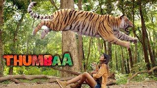 Thumbaa Movie Scenes | Keerthi Pandian and vilagers save the tiger | Darshan | KPY Dheena
