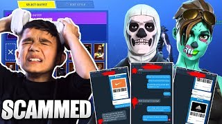 Little Brother's Fortnite Skull Trooper Account Gets STOLEN! He Rages!