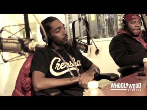 NIPSEY HUSSLE vs DJ WHOO KID on the WHOOLYWOOD SHUFFLE at SHADE 45
