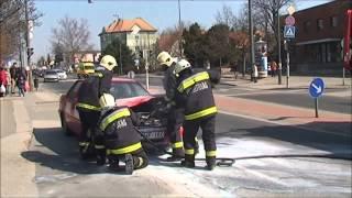 Kigyulladt egy autó a Budapesti úton