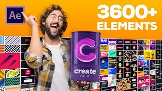 3600+ Motion Graphic Assets for After Effects | Create Pack | After Effects Tutorial