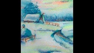 Видео-урок рисования зимнего пейзажа от тм STABILO