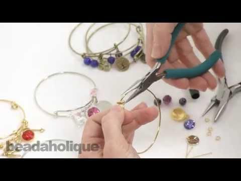 How to Embellish an Expandable Charm Bangle Bracelet