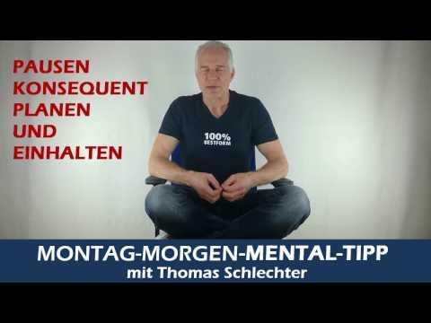 Mentaltipp Pausen konsequent planen von Thomas Schlechter