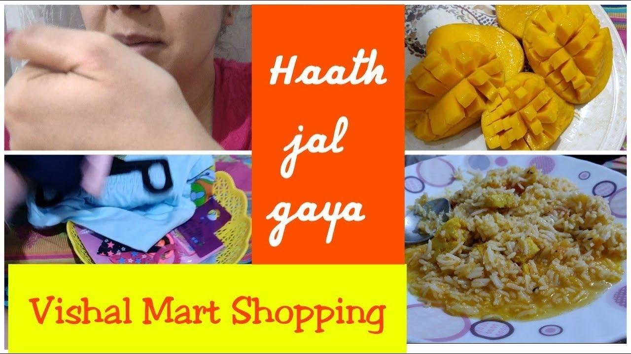 Haath Jal Gaya Mera Kaise | Vaccination | Vishal Mega Mart ki Shopping |  SuperStylish Namrata |