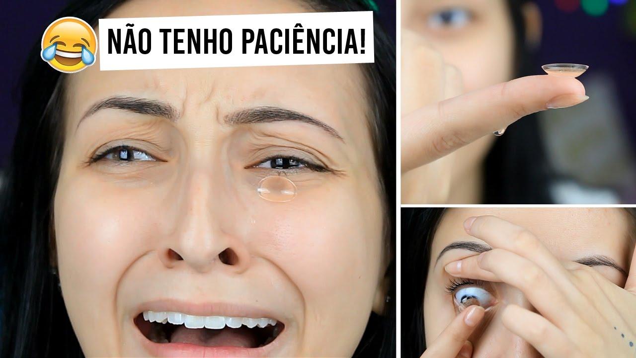 COLOCANDO LENTES DE CONTATO PELA PRIMEIRA VEZ - YouTube df2027b26e