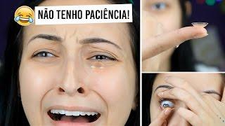 COLOCANDO LENTES DE CONTATO PELA PRIMEIRA VEZ thumbnail