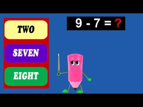 Intractive Math Quiz | How To Subtract 7 - 6 to 10 | Kids HomeSchool Tutorial