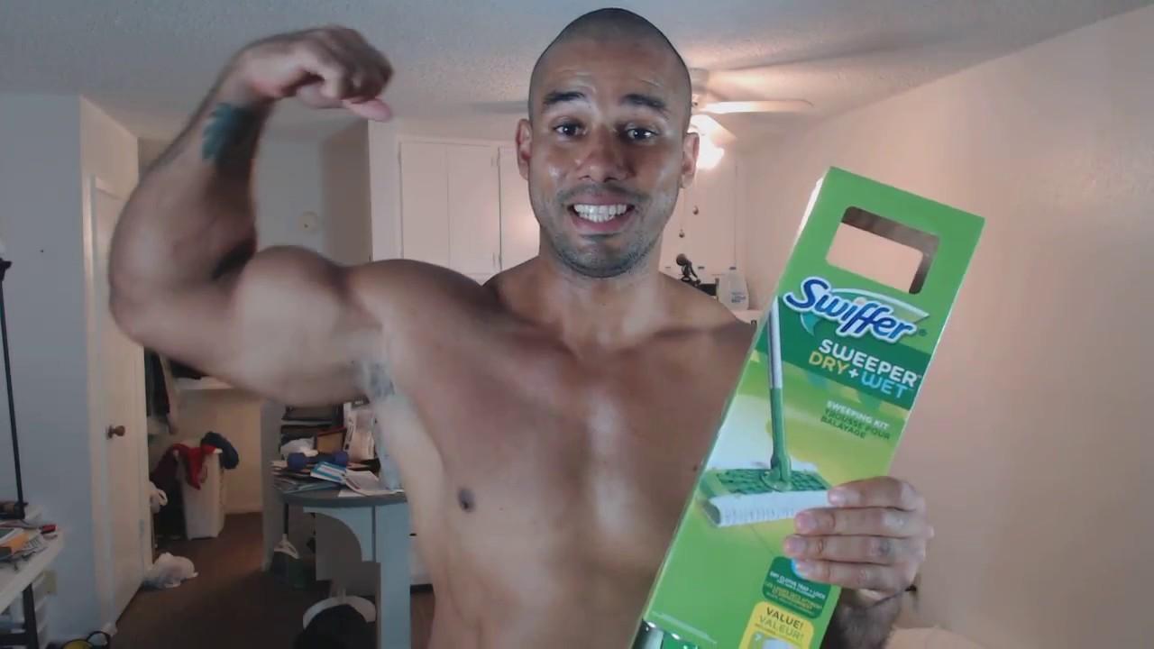 f917b9a1e55c3d Bodybuilder Loves Swiffer Sweeper - Samson Biggs