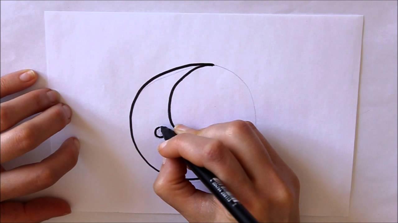 c5b0c40cb9 Cómo dibujar un Cuarto de Luna Fácil y Rápido Dibuja Conmigo Dibujos de  Naturaleza