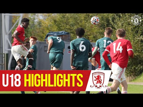 U18 Highlights |  Manchester United 3-3 Middlesbrough |  The academy
