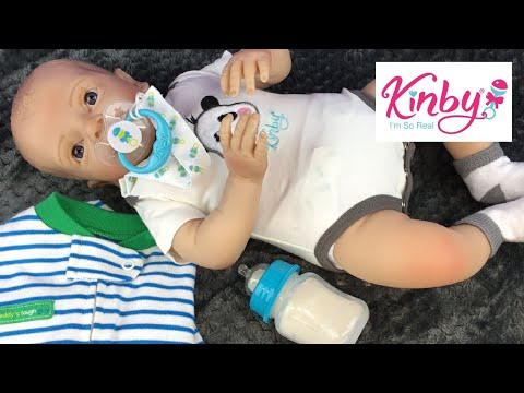 Feeding And Changing Little Baby Nathan Doll By Kinby