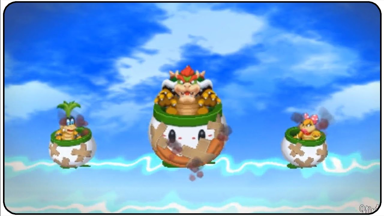 Mario Luigi Paper Jam All Neo Bowsers Castle Quests Youtube