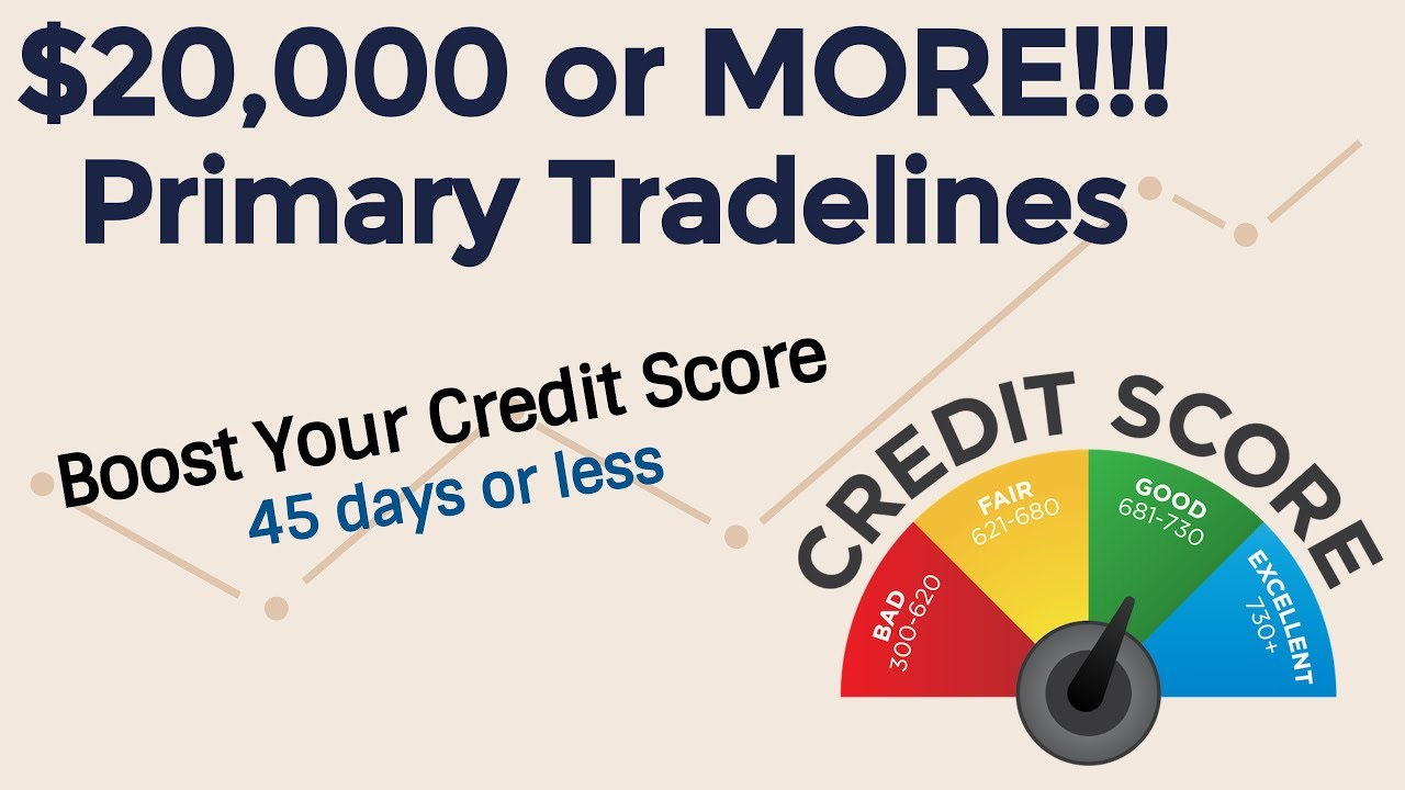 Up to $24,000 in Primary Tradelines - Boost your credit score in less than  45 Days by Stop Struggling Now