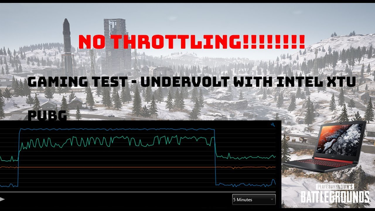 HOW TO UNDERVOLT and GAMING TEST PUBG - ACER NITRO 5 Core i5-8300H