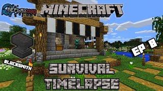 Flat Survival Minecraft Timelapse EP.8 | BLACKSMITH | Fish Farm Is Working!!!
