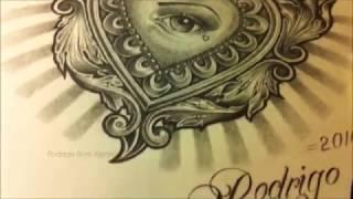 Sacred Heart (Sagrado Corazon) Tattoo Style Drawing