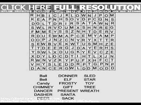 free christmas word search games - Christmas Word Search Games
