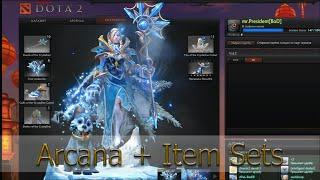Arcana + Наборы предметов [Crystal Maiden]