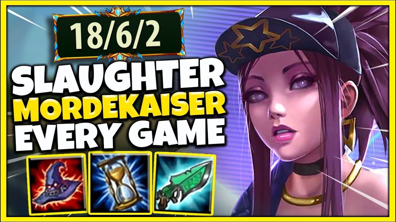 #1 AKALI WORLD LEARN HOW TO COUNTER MORDEKAISER (INFORMATIVE GAMEPLAY) - League of Legends
