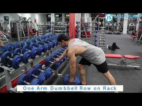One Arm Dumbbell Row on Rack