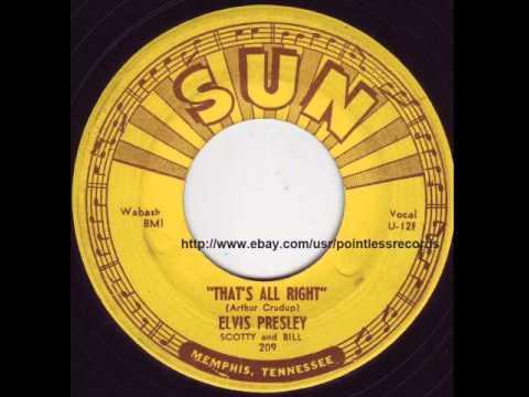 Elvis Presley - That's All Right - Original Sun Records #209 45RPM -1954 Rockabilly