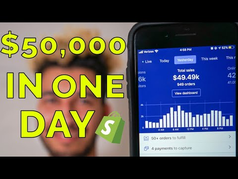 $50,000 In 1 Day With Shopify Dropshipping In 2019 | How Much Money I Made with eCommerce thumbnail