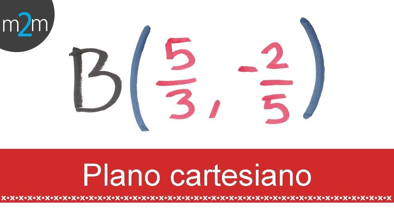 Plano cartesiano con fracciones - YouTube