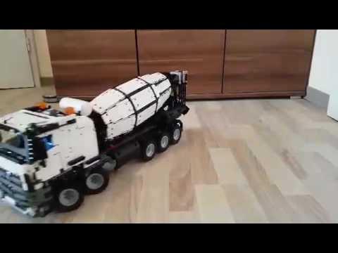 lego technic 42043 betonmischer full rc youtube. Black Bedroom Furniture Sets. Home Design Ideas