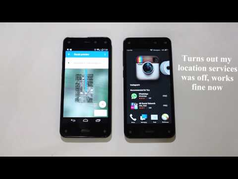 I compare CM11 (CyanogenMod) against Amazon Fire phone 4.6.4