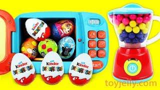 KINDER joy Chocolate Surprise Egg Magical Microwave & Blender Toys for Kids Baby Finger Song