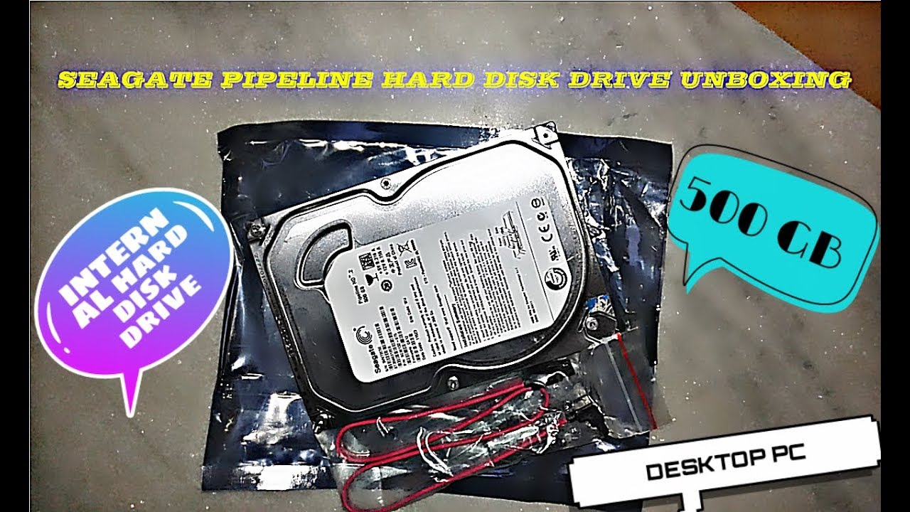 Unboxing Seagate 500 Gb Pipeline Internal Hard Disk Drive For Hardisk Pc 500gb Desktop Computer