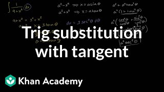 Trig substitution with tangent