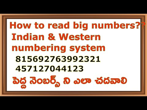 How to Say Big Numbers in Indian and Western Numbering Systems I sagar talks