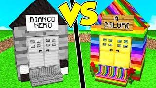 CASA IN BIANCO E NERO contro CASA A COLORI su MINECRAFT!