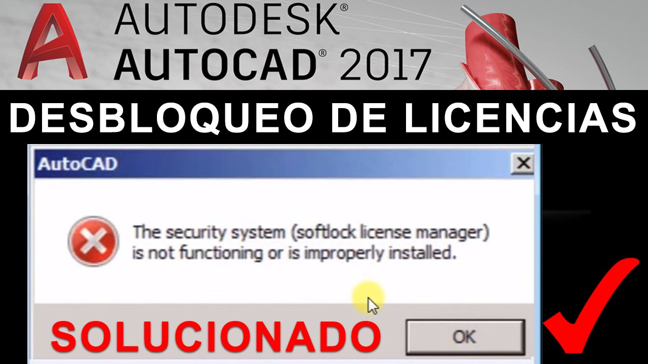 Autocad 2017 Error softlock license manager | SOLUTION