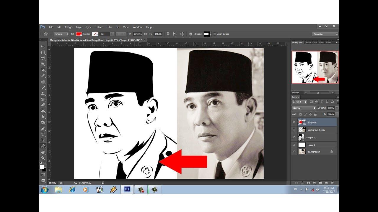 Download tutorial photoshop cara mudah membuat line art poto