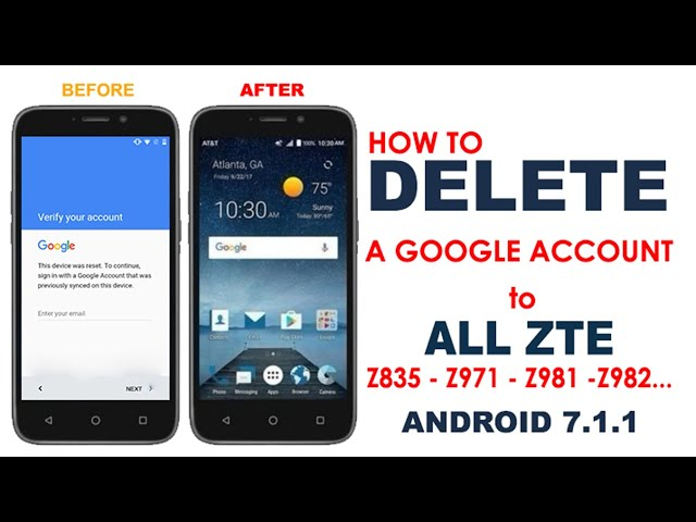 HOW TO DELETE A GOOGLE ACCOUNT FROM ALL ZTE Z835, Z971, Z981