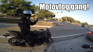 Met Another Motovlogger! | Girl In A Subaru Wrx Plays With Motorcycle!:)