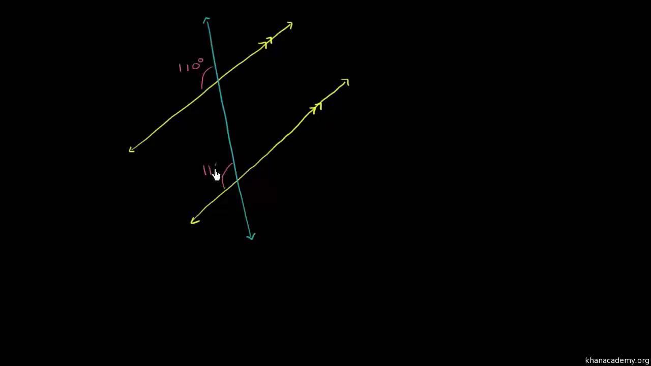 At finde vinkler mellem parallelle linjer og transversaler