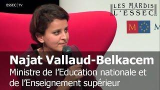 Najat Vallaud-Belkacem aux Mardis de l'ESSEC