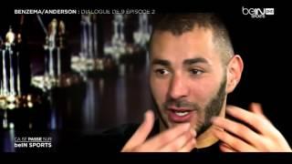 Karim Benzema avec Sonny Anderson sur Beinsport HD interview 2015